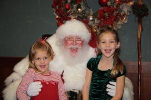 Santa and Girls Photo
