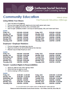 CCCS Schedule 3-13