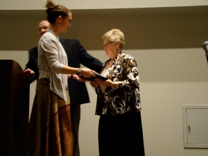 TOC Jan Receiving Award
