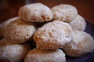 Some sweet spiced cookies to mark the end of Ramadan.  Delicious!