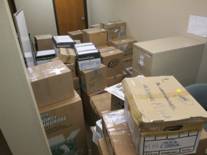 Boxes before the move!