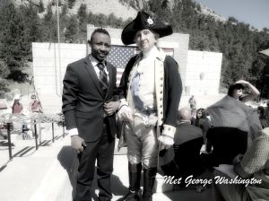"Solomon ""meeting"" George Washington at the Naturalization Ceremony"
