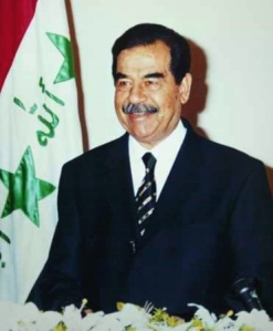 Saddam Hussein (photo courtsey of Wikipedia)