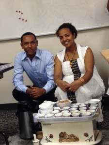 Patient Care Students drink coffee