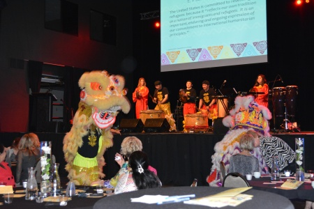 Asian Night Live performed several songs and also wowed the crowd with a Lion Dance that wove its way through the audience.