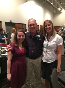 Kristyne (Volunteer Coordinator at LSS CNA), Frank, and me, Kadie, at the Helpline's luncheon