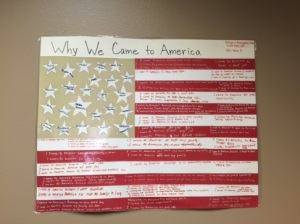 Poster of reasons why students came to Sioux Falls.