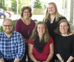 Front L-R: Ben Gloor, Melissa Timmerman, Michelle Madsen. Back L-R: Lisa Falon Schulz, Brandi Umberger