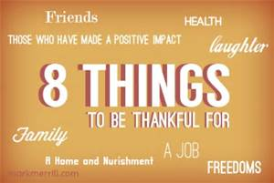 8 things thankful
