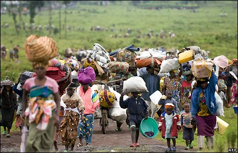 bbc congolese fleeing