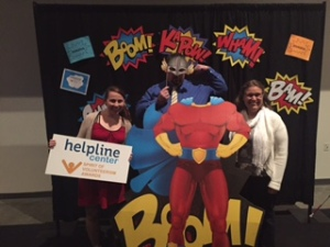 Showing off his superpower at the 2016 Spirit of Volunteerism Awards luncheon.