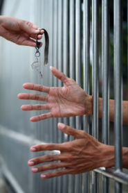 hands in jail