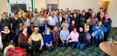 Pierre Lunch Group Photo, LSS Center for New Americans,  2019.
