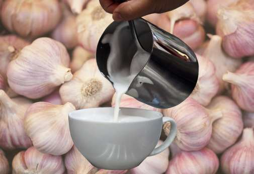 artful pic of milk and garlic