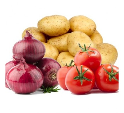 tomatoes onions and potatoes