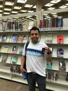 A big smile from this 1st-time library card holder!