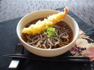 Soba Noodles with Tempura Shrimp